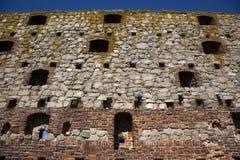 Hammershus Fort, Denmark. Hammershus Fort. The Storage House. Bornholm, Denmark. Hammershus is a medieval fort built 1255 by archbishop Jacob Erlandsen and Stock Photo