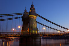 Hammersmith Bridge Stock Photo