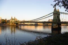 Hammersmith bridge. In london,uk Royalty Free Stock Image