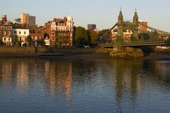 Hammersmith bridge. In london,uk Stock Photography