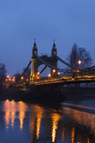 Hammersmith Bridge in the evening Stock Images