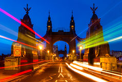 Hammersmith Bridge in London, England Stock Photo