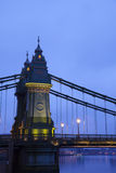 Hammersmith Bridge in the morning Royalty Free Stock Photos