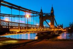 Hammersmith most w Londyn, Anglia Fotografia Royalty Free