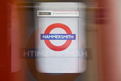 Hammersmith tube station Royalty Free Stock Image