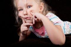 hamming πορτρέτο κοριτσακιών Στοκ Εικόνα