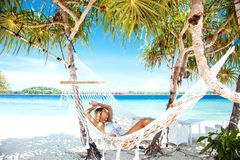 Hammoch at the beach royalty free stock image