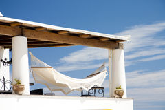Hammock. Of Hotel in Panarea, Sicily Stock Images