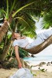 In hammock fotografia stock