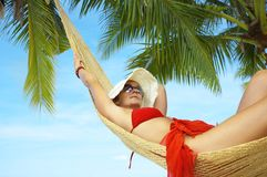 In hammock Royalty Free Stock Images