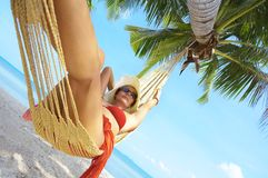 In hammock Stock Photography