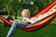 In hammock Royalty Free Stock Photography