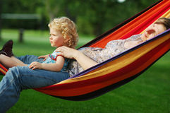 In hammock Royalty Free Stock Photos