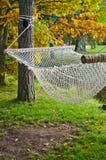A hammock  in autumn Park Royalty Free Stock Photos