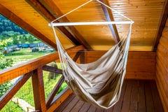 Hammock on the balcony Royalty Free Stock Image