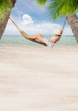 Hammock banner Royalty Free Stock Photography