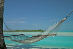 Hammock on a Beach Stock Photo