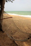 Hammock and beach. Rest with natural and beach Royalty Free Stock Images