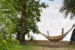 Hammock by the beach Royalty Free Stock Photos
