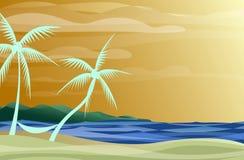 Hammock on the Beach royalty free illustration