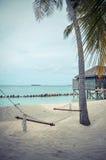 Hammock on the beach. On the beautiful island Kuredu on the Maldives Stock Photo