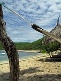 Hammock on Beach. Close up of Hammock on white sandy beach, Fiji royalty free stock images