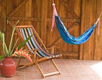 Hammock  and Beach Chair Stock Image