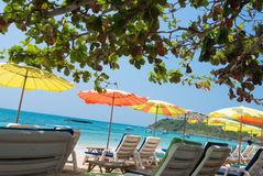 Hammock beach. Cribs colorful beach in a clear day Stock Photography