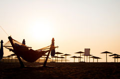 Hammock at the beach Royalty Free Stock Images