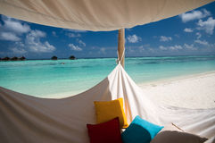 Hammock on the beach Royalty Free Stock Image