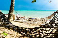 Hammock on the beach in stormy weather. Koh Samui, Thailand Royalty Free Stock Images