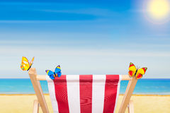 Hammock at the beach in summer Royalty Free Stock Photo