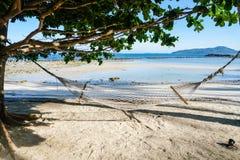 Hammock on the beach. Thailand Stock Photos