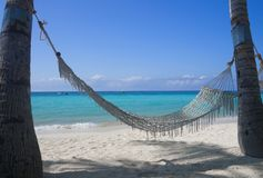 Hammock at the beach Royalty Free Stock Image