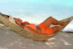 Hammock beach woman Stock Image