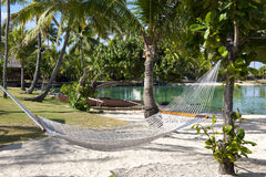 Hammock at beautiful resort Royalty Free Stock Image