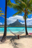 Hammock in Bora Bora Royalty Free Stock Image
