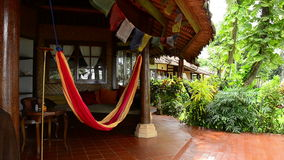 Hammock in a bungalow in Bali, indonesia stock footage
