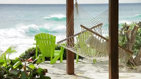 Hammock and carribean stock video footage