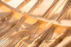 Hammock. Close up of a hammock on a tropical beach resort vacation concept Royalty Free Stock Image