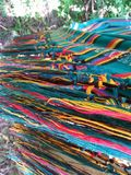 Hammock abstract. Hammock colorful wires Stock Images