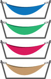 Hammock Colors. Hammocks with stand in different colors Stock Photos