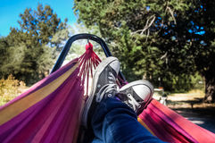 Hammock & Converse Stock Images