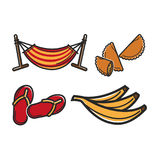 Hammock and different food Stock Images