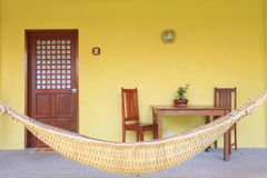 Hammock with dining table� Royalty Free Stock Images