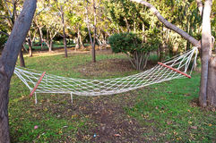 Hammock in forest Royalty Free Stock Photography