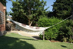 Hammock in the garden Stock Image
