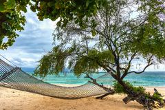 Coast of the Gili Trawangan island, Indonesia. Royalty Free Stock Images