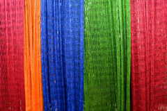 Hammock interlace from nylon rope. Colourful Hammock interlace from nylon rope Stock Images