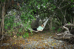 Hammock in jungle Royalty Free Stock Photography